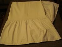 New pair of cream small single bed divan trim valances/base sheets, £10 each or £18 a pair, ex cond