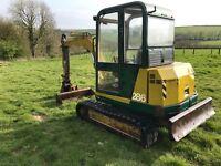 Pel job/volvo 2.8ton mini digger excavator servo controls new tracks no vat