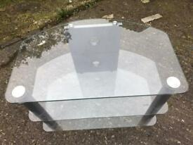 To unit glass tv unit