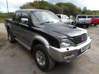 2003 MITSUBISHI L200 ANIMAL SILVER BLACK , CLEAN TRUCK WITH ROLLER SHUTTER , L200 DEALER