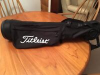 2017 Model Titleist Sunday Carry Golf Pencil Bag - Used for two rounds.