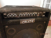 Bass Guitar Amplifier, Crate BT50 in good condition, works fine, built in tuner etc.