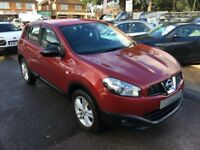 2010/60 NISSAN QASHQAI .5 dci ACCENTA 2WD 5DR RED GREAT CONDITION,+DIESEL ECONOMY,DRIVES WELL