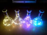 Multicoloured Light Up Vases