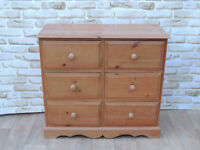 6 Drawer chest deep and chunky solid pine wood (Delivery)