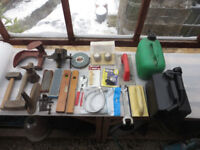 Various tools and items for sale as a job lot