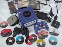 NINTENDO GAMECUBE CONSOLE, 2 GAMEPADS, RGB CABLE, RESIDENT EVIL MARIO SIMPSONS GAMES BRISTOL BS306LQ