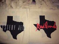 Joblot 33 New Cotton Tote Shoulder Bags Mystery Jets Radlands