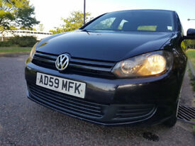Volkswagen Golf Black 1.6L TDI Diseal Hatchback Manual in Excellent Condition. £30 Annual Road Tax