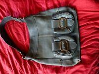 Blondie Mania Green Cowhide Leather Handbag