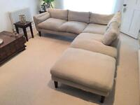 Laura Ashley Corner Sofa and Foot Stool