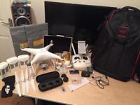 DJI Phantom 4 + 3 batteries + tons of accessories