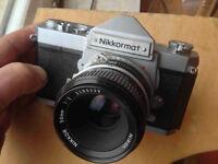 Nikkormat Nikon FT 35mm Camera with 50mm Nikkor f2 lens