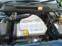 VAUXHALL 1800 cc ENGINE IN VGC , FOR ASTRA/ZAFIRA/VECTRA 2001TO 2004