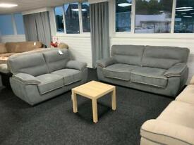3 +2 sofa set fabric grey fast delivery view sofa