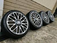 "17"" Fiat 500 Abarth alloy wheels & tyres 4x98"