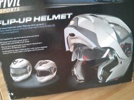 CRIVIT Flip-Up Motorcycle / Bike Helmet