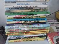Collection of Vintage Annuals in good condition 1970-80