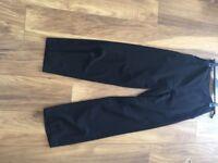 Warehouse Black Highwaisted Trousers UK 10