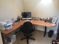 Corner Desk - ideal for Home Office 160cm x 120cm (depth 80cm) plus extensions