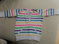 2 Next Girls floral top & stripe jumper top - 3/4 sleeves age 6