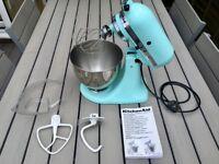 Kitchen Aid Artisan Tilt-Head Stand Mixer in ice blue