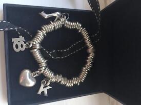 Links of London sweetie sterling charm bracelet