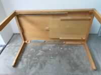 Beech wood extendable dining table
