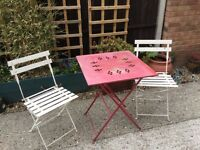 shabby chic garden table and chairs