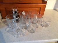 Collection of glasses. Ideal for the home or a car boot