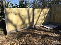 2x 4'x6' new heavy closeboard fence panels in green