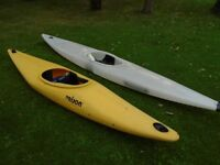 Two Kayaks With Spraydecks