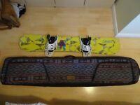 Forum Snowboard, Forum bindings & Dakine Board bag