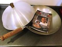 Ken Hom Steel Wok & Recipe Book - NEW!