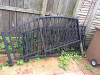 Wrought iron style gates and fence