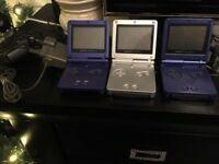3 x Gameboy Advance SPS brilliant condition