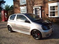 02 TOYOTA YARIS T Sport 1-5-Garaged 4 years unused, Rare £395 spares/repairs no Mot-project only
