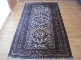 "Beautiful Handmade Baluch wool carpet, medium size 43"" x 81""/ 110 x 210 cm"