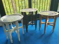 3 x Moroccan Side Tables - beautiful design, VGC