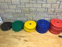 300kg Olympic Bumper Plate Set