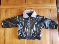 [EXCELLENT CONDITION] LOVELY LEATHER JACKET - 18-23 MONTHS