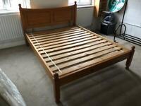 King Size Bed Frame & Silentnight King Mattress