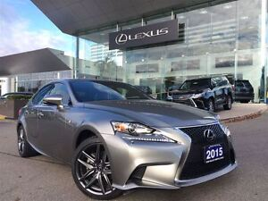 2015 Lexus IS 250 1 Owner AWD Nav Lthr BUcam Btooth