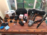Canon 70D DSLR Camera plus 2x Lens and accessories