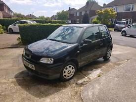 1 year MOT. Low milage. Small car 3 door hatchback VW Seat black 3 door cheap