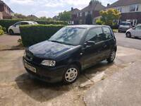 1 year MOT. Low milage. Small car 3 door hatchback VW Seat black 3 door cheap