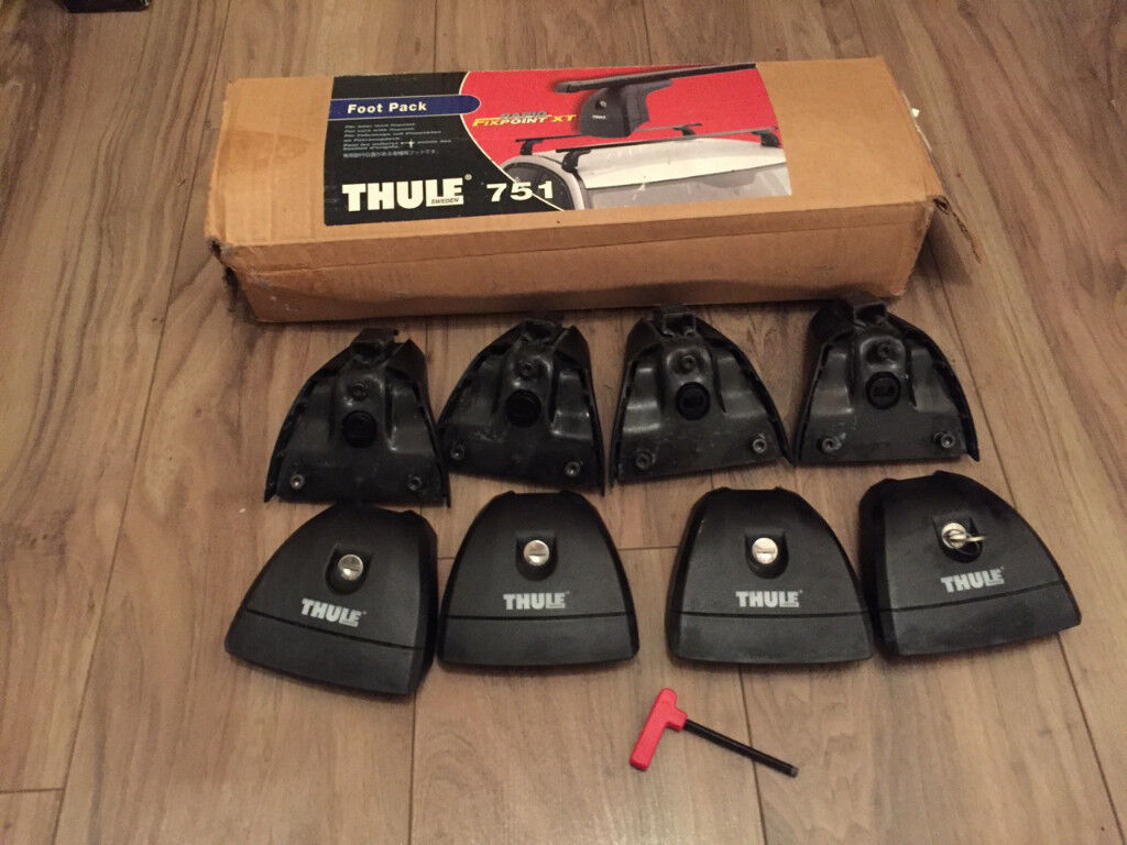 Thule 751 (753) Rapid Fixpoint Roof Rack Foot Pack