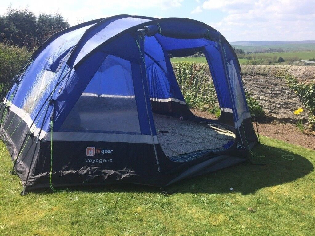 Hi Gear Voyager 6 Tent - Large 6 Man Tent with Carpet   in Ingleby Barwick,  County Durham   Gumtree