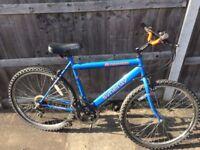 Mountain bike 26ins wheels 19ins frame