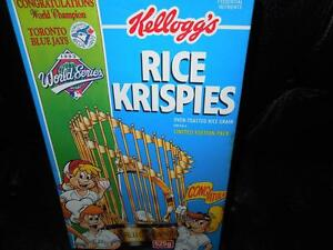 RICE KRISPIES BOX FROM 1992/93 BLUE JAYS WORLD SERIES